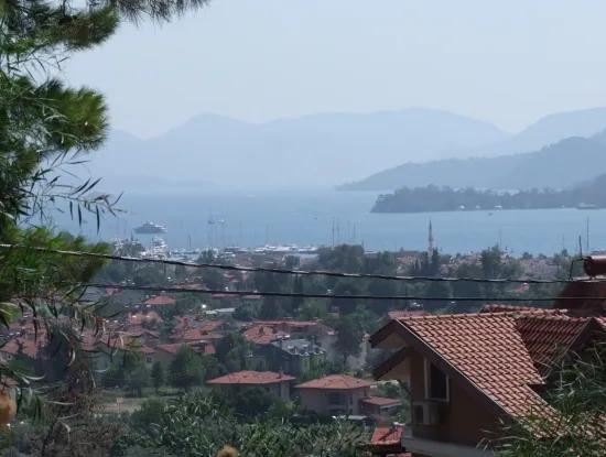 1020M2 Land For Sale In Gocek Fethiye With Full Sea View Land For Sale In Gocek