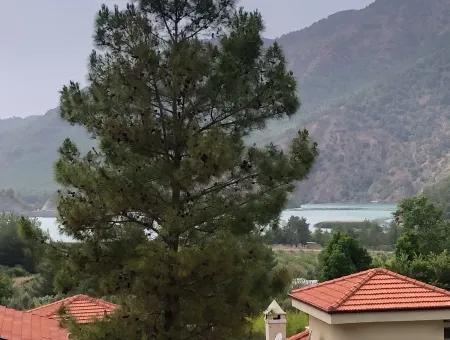 Bungalow With Views Of Dam 3 In 1 For Sale In Dalaman, Akkaya