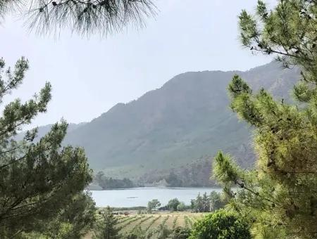Bungalow With Views Of Dam 3 In 1 For Sale In Dalaman, Akkaya